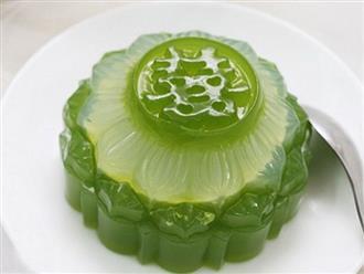 Cách làm bánh Trung thu rau câu nhân đậu xanh vừa ngon vừa lạ mắt