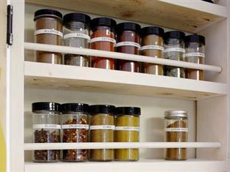 Mẹo bảo quản các loại gia vị trong gian bếp giúp giữ mùi, sử dụng lâu dài