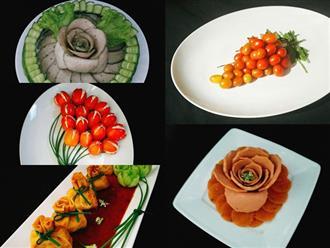 Hoa sen, chùm nho... nổi trên đĩa - chị gái cứ bày đồ ăn lên đĩa là phải đẹp, hút nghìn like gây xôn xao MXH