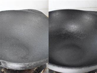 Biến chảo gang thành chống dính chỉ với vài bước đơn giản, nấu ăn chẳng lo sát chảo