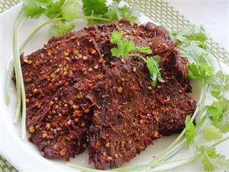 Bò khô cay hấp dẫn nhâm nhi dịp Tết Canh Tý