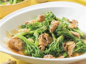 Bông cải xào thịt bò sốt gừng thơm ngon cho bữa tối