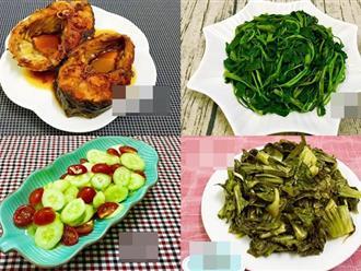 Bữa ăn nhiều rau thanh mát, cả nhà nhìn thấy vẫn thích mê