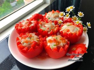 Cà chua nhồi cá thác lác hấp thơm ngon, bổ dưỡng cho cả nhà