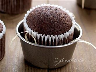 Mách bạn cách làm bánh cupcake chocolate bất bại không cần lò nướng