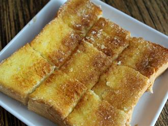 Cách làm bánh mì nướng bơ đường siêu hấp dẫn cho bữa sáng