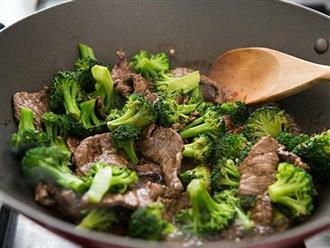 Cách làm bông cải xào bò ăn cực ngon và hao cơm