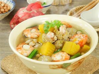 Cách làm canh bí đỏ nấu thịt băm, tôm khô ngọt bùi đưa cơm ngày nắng