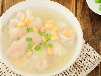 Cách làm canh móng giò hầm đậu trắng thơm ngon, bổ dưỡng
