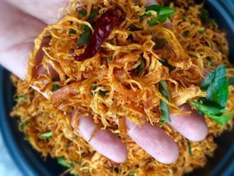 MÓN ĂN NGÀY TẾT: Cách làm khô gà lá chanh đơn giản, ăn lai rai không ngán