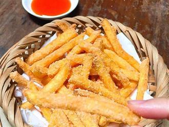 Cách làm khoai tây lắc phô mai thơm ngon, ăn là nghiền