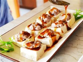 Cách làm món đậu phụ hấp tôm thịt bùi thơm, dậy mùi