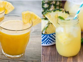 2 cách làm nước dứa ép uống mỗi ngày da căng mịn như da em bé