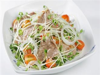 Cách làm salad rau mầm tuyệt ngon không phải ai cũng biết