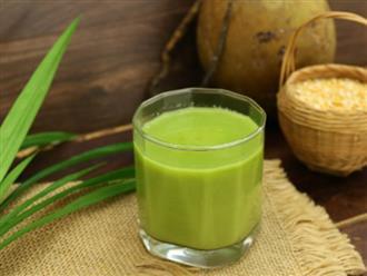 Cách làm sữa đậu xanh lá dứa béo ngậy, mát lạnh ngày hè