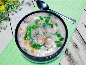 Mẹ Bin chia sẻ cách nấu cháo hàu bổ dưỡng đãi cả nhà dịp nghỉ lễ