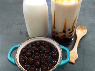 Cách tự làm sữa tươi trân châu đường đen ngon hơn ngoài hàng