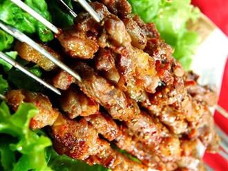 Cách ướp, nướng thịt xiên thơm phức, ngon hơn ngoài hàng