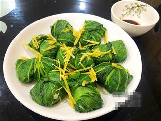 Vừa đặt lên mâm cải bẹ cuộn cá thác lác hấp, cả nhà ăn không kịp thổi vì quá ngon