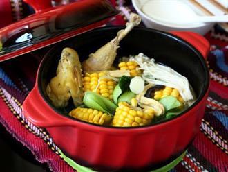 Ngon miệng bổ dưỡng món canh gà hầm rau củ