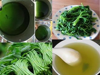 Canh rau muống để lâu có màu xanh đen là nhiễm hóa chất, chuyên gia khẳng định: Sai lầm!