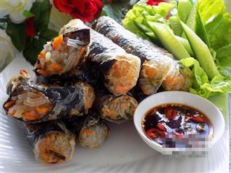 Biến tấu chả giò sushi thơm nức, cả nhà tròn mắt vì thấy vừa lạ vừa ngon