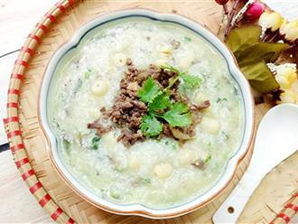 Cách nấu cháo gà hạt sen thơm ngon, giữ nguyên dinh dưỡng