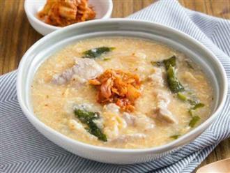 Học người Hàn cách nấu cháo thịt thơm ngon, ai thử cũng thích!