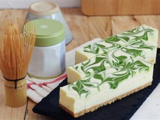 Cheesecake trà xanh mát lạnh giải tỏa nắng hè gay gắt