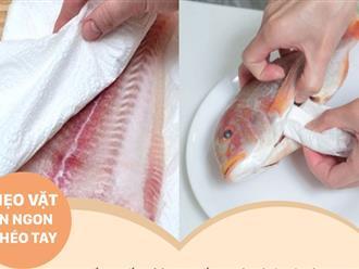 Chỉ dùng 1 tờ khăn giấy thôi cũng có thể khiến cá, thịt, rau củ tươi ngon hết nấc