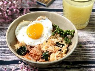 Món cơm Bibimbap nổi tiếng Hàn Quốc hóa ra có thể nấu cực dễ dàng chỉ với 1 chiếc nồi cơm điện