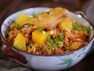 Học cách nấu cơm gà mới toanh, bữa trưa hay bữa tối chỉ nấu 1 nồi là xong!
