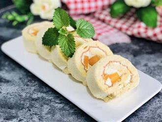 Công thức bánh bông lan cuộn xoài chuẩn ngon thơm mềm hấp dẫn