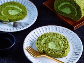 Công thức làm bánh cuộn trà xanh chuẩn Nhật ngon hơn ở tiệm