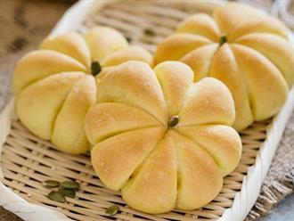 Công thức làm bánh mì bí ngô cực đỉnh nhìn thôi đã mê