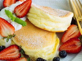 Công thức làm bánh pancake kiểu Nhật mềm xốp ngon hơn hẳn kiểu truyền thống