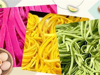 Mẹ đảm Hà thành chia sẻ trọn bộ công thức làm mì sợi nhiều màu từ rau củ quả tại nhà cực nhanh gọn, không cần máy