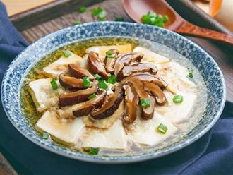 Thanh đạm món đậu hấp nấm cho bữa tối thêm ngon cơm