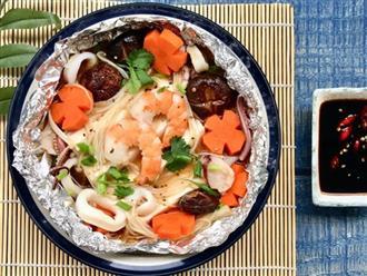 Cuối tuần đổi món cho cả nhà với đậu hũ hải sản hấp giấy bạc siêu lạ miệng