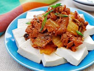 Nếu thích Hàn Quốc thì không thể không làm món đậu phụ ngon mê mẩn này