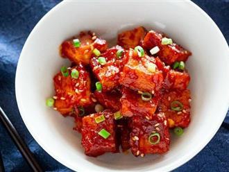 Đâu chỉ người Việt, người Hàn cũng có đậu phụ xốt cà chua ngon lắm đây này!