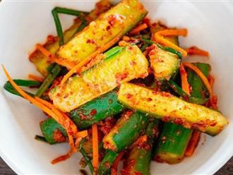 Món ngon mỗi ngày: Dưa chuột muối kiểu Hàn làm cực nhanh