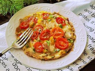 Chẳng cần lò nướng và dùng cơm nguội tôi vẫn làm được pizza cơm giòn ngon tuyệt đối