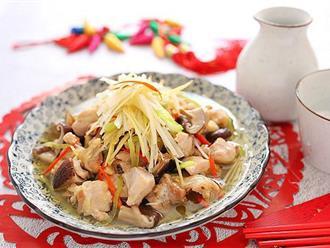 Món gà hấp nấm làm trong có 15 phút mà ngon ngỡ ngàng