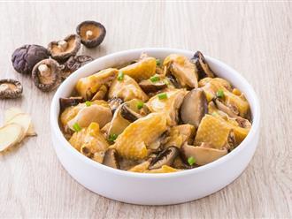 4 bước siêu nhanh có ngay gà hấp nấm thơm lừng cho bữa tối