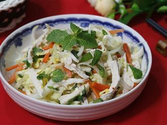 Gỏi gà bắp cải làm rất nhanh ăn lại ngon cực kỳ