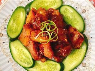 Thịt heo một nắng xốt tỏi ớt - món nhậu cũng ngon mà ăn cơm cũng tuyệt