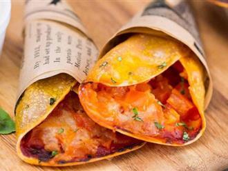Hô biến vỏ há cảo thành món bánh pizza cuộn chỉ trong nháy mắt