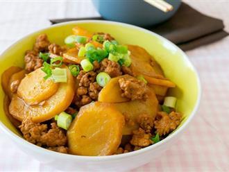 Bí quyết giúp làm món khoai tây xào thịt tuyệt ngon