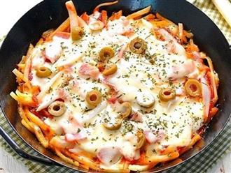 Không cần lò nướng, chẳng phải nhào bột tôi cũng làm được bánh pizza ngon hết cỡ!